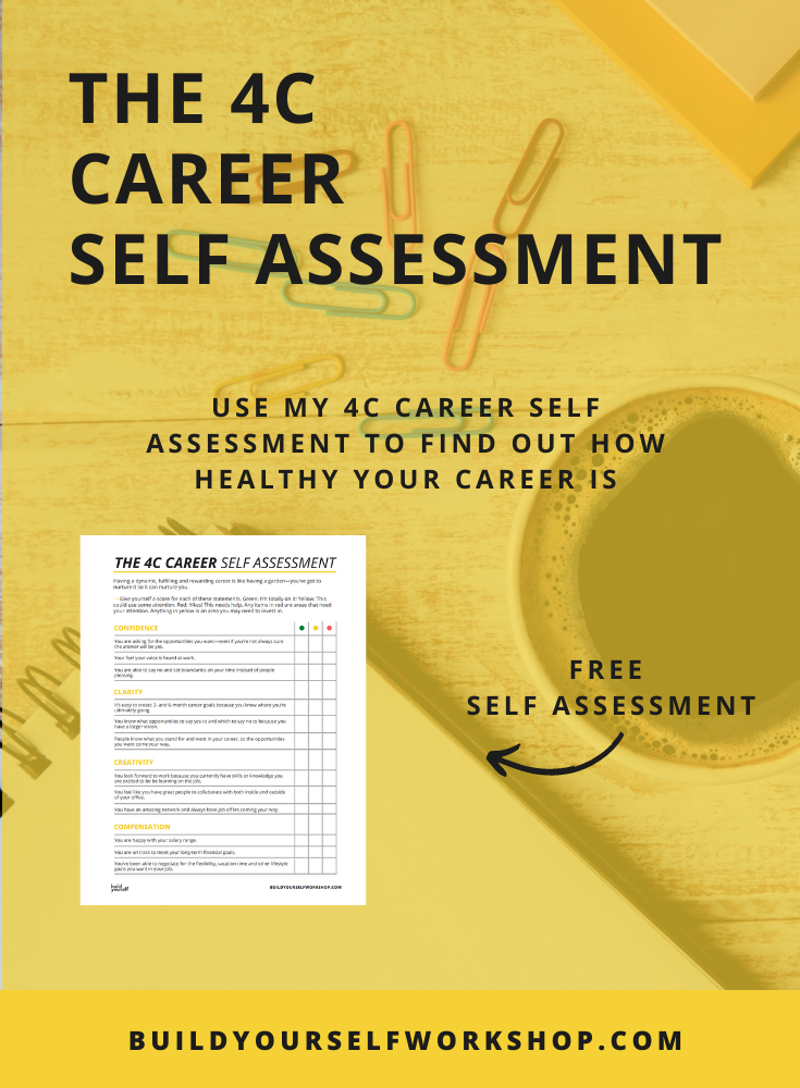 Why you need a career plan as a designer - download my 4C Career Self Assessment