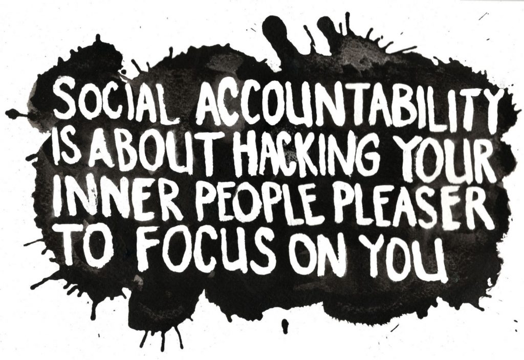 Visualization of quote-why a success partner or accountability partner helps you-because they hack your inner people pleaser